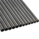 SHARROW 12 Stücke Carbonpfeile Schaft Carbon Pfeilschaft 30 Zoll Spine 300-900 Pfeilwellen aus Reinem Kohlefaser ID 6.2mm 4.2mm Pfeilschäfte für Hausgemachte Pfeile (Spine 350, ID 6.2mm)